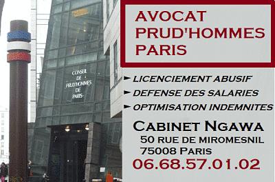 avocat prudhommes paris